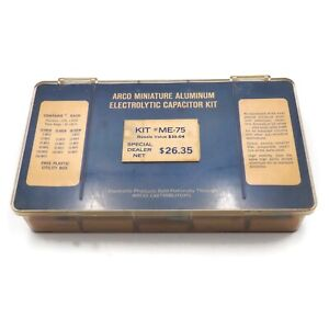 Arco Miniature Aluminum Electrolytic Capacitor Kit With 33 Assorted Capacitors