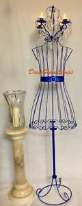 Wrought Iron Dress Foam Royal Blue Featuring A Metal Attached Chandelier