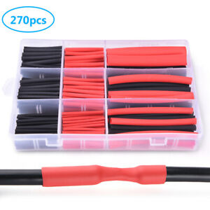 270pcs 3 1 Dual Wall Adhesive Heat Shrink Sleeve Tubing Tube Assortment Kit