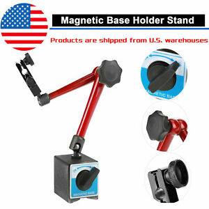 Universal Magnetic Metal Base Holder Stand Dial Test Indicator Tool Adjustable