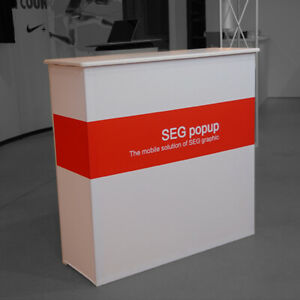 39 Seg Pop Up Counter Custom Trade Show Display Banner Stand Counter Table