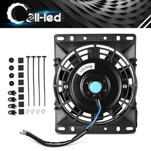 6 Inch 80w 2 36 Thickness Slim Electric Radiator Cooling Fan With Mount Kit