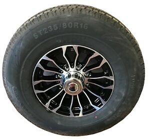 6 16 8 Lug Aluminum Trailer Wheel And Tires 235 80 R 16 Lre 10ply Powerking P01