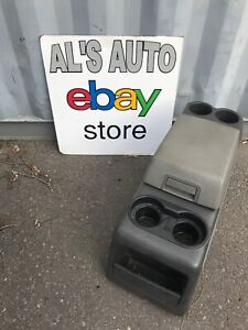 04 08 Ford F150 Center Console Cup Holder 2 Tone Gray Oem