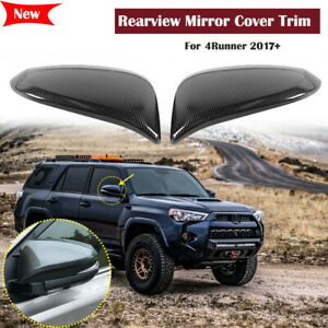 Carbon Fiber Rear Rearview Mirror Cover Trim Decor For Toyota 4runner 2017 2019
