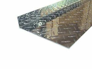Aluminum Diamond Plate Angle 062 X 1 5 X 7 5 X 48 In Inside Reverse 3003 4pcs