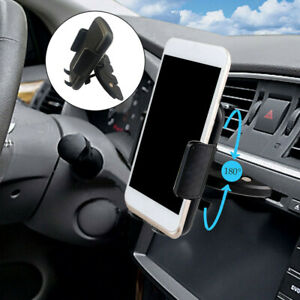 Black Cd Slot Car Phone Support Holder Cell Phone Car Mount For Iphone Samsung