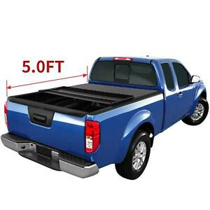 Oedro Tonneau Cover For 2005 2019 Nissan Frontier 5ft Truck Bed Soft Tri Fold