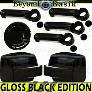 For 2007 2012 Dodge Nitro Glossy Black Door Handle Covers gas mirror Covers