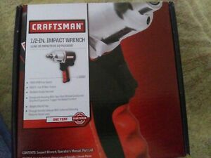 Craftsman 1 2 Impact Wrench Pneumatic Air Gun 916882