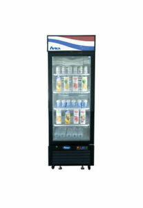 Atosa 11 Cu Ft Single Door Section Merchandiser Glass Door Refrigerator