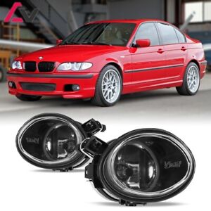 For Bmw E46 01 06 Clear Lens Pair Bumper Fog Light Lamp Oe Replacement Dot Bulb