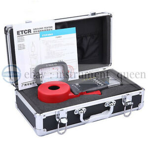 Etcr2100 Digital Clamp On Ground Earth Resistance Tester Meter Free Shipping