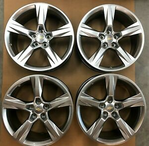 20 Chevrolet Camaro Wheels Factory Oem Rims 23434146 23434147 Staggered Set