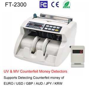Money Bill Cash Counter Bank Machine Currency Counting Uv Mg Counterfeit X7l0