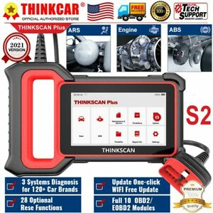 Thinkscan Plus Obd2 Scanner Abs srs ecm System Reset Diagnostic Auto Code Reader