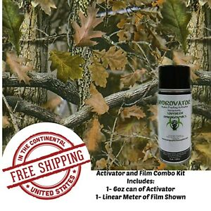 Hydrographic Film Hydro Dip 1 Linear Meter 6 Oz Activator Early Fall Camo Kit