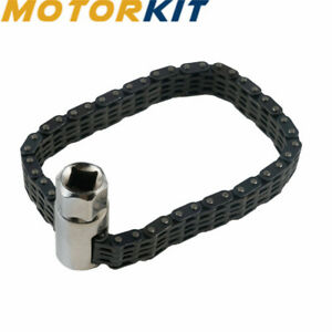 Car Truck Oil Filter Wrench Strap Chain Type Clamp Socket Removal Install Tool