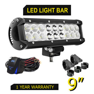 9inch 54w Led Work Light Bar Combo Beam Offroad Driving For Silverado 1500 2500