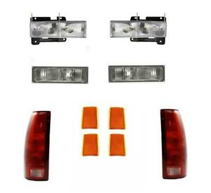 For Chevrolet C1500 Truck 1988 1993 Headlight Signal Side Marker And Tail Lamp