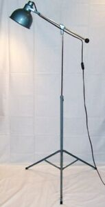 Vintage Mid Century Articulated Tripod Industrial Floor Lamp Light Machine Age