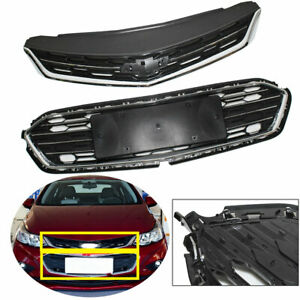 Front Bumper Upper Middle Grille Abs Grill For Chevrolet Cruze 2016 2017 2018