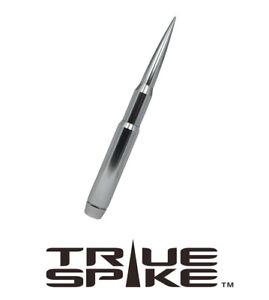 True Spike Billet 9 Fat Bullet Antenna Silver For Ford F250 F350 Super Duty