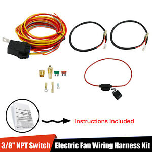 185 165 Thermostat 40 Amp Dual Electric Cooling Fan Wiring Relay Install Kit