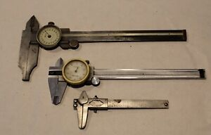 Helios Fowler Etc dial Caliper Lot Machinist Mill Gage Tools Stainless Steel