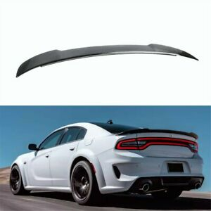Gloss Black Rear Trunk Spoiler Wing Lip Abs Fit For Dodge Charger 2015 2020