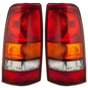 For Gmc Sierra 1999 2000 2001 2002 Rear Tail Lamps Right Left Pair Set