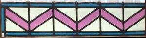 Original English Art Deco Stained Glass Fragment