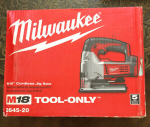 Milwaukee 2645 20 M18 18v Cordless Lithium Ion Jigsaw Tool Only