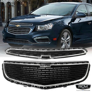 For 2015 Chevy Cruze Sedan Classic Front Grill Grille Mesh Grill 2pcs