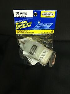 Hubbell One Piece Marine Adapter 30a To 15a 125v Hbl31cm28