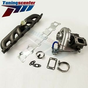 T3 T4 T04e V Band Turbocharger Turbo 63 A R With Internal Wastegate Manifold