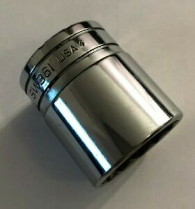 Snap On Tools Usa 1 2 Drive Sw361 12 Point Chrome Shallow Socket 1 1 8