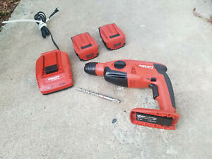 1 Hour Used Te 2 a 22 volt Lithium ion Sds plus Cordless Rotary Hammer Drill Kit