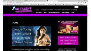 Webcam Models Recruitment Studio Website For Sale Includes Hosting And Domain