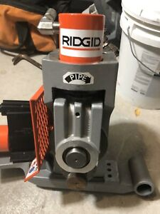 Ridgid 918 Roll Groover On 300 Power Drive Mount 48297 Bonus 8 12 Steel Roll