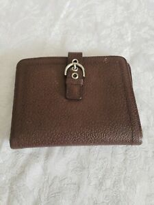 Franklin Covey Unisex Classic Brown Leather Wallet organizer