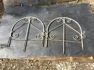 Rare Antique Matching 15 Wrought Iron Fence Panels 30 Total 2 Tall