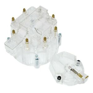 Distributor Cap W Rotor Coil Cover Kit For Sbc Bbc Chevy 65k Coil 8 Cyl Clear