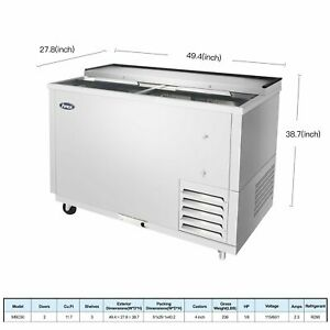 Atosa 50 Horizontal Stainless Steel Commercial Beer Wine Drink Back Cooler