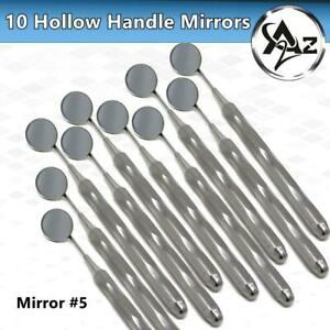 German 10 Dental Mouth Mirror 5 Unique Hollow Handle Dental Instruments Dentist