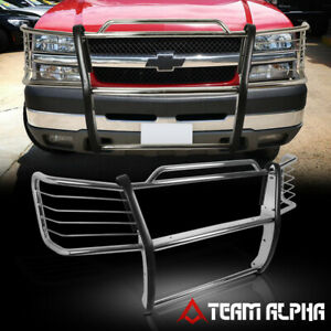 Fits 2003 2007 Silverado 2500 Hd 3500 Stainless Steel Bumper Grille Brush Guard