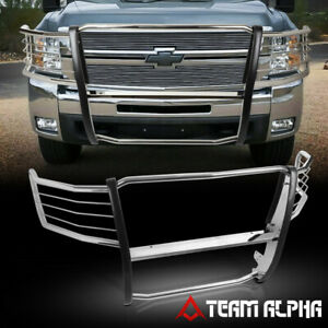 Fits 2007 2013 Silverado 2500 3500 Stainless Steel 1 5 Bumper Grille Brush Guard