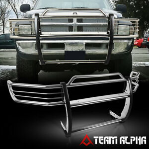 Fits 1999 2001 Dodge Ram 1500 quad stainless Steel 1 5 bumper Grille brush Guard