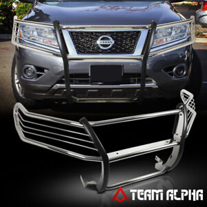 Fit 2013 2016 Nissan Pathfinder Chrome Stainless Steel Bumper Grille brush Guard