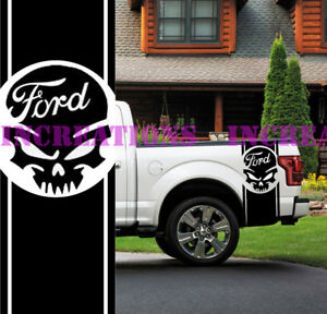 Ford F 150 Skull Truck Side Stripes Decals Off Road Stickers Set Of 2 Car Decal